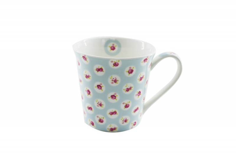 CANECA BONE CHINA CONCI - FLORES 270 ML
