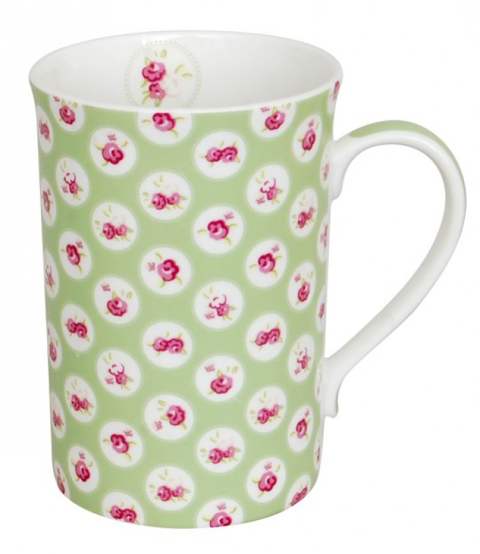 CANECA BONE CHINA ERANE - VERDE 320 ML