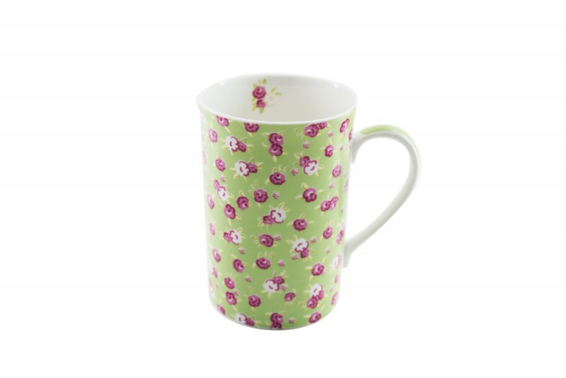 CANECA BONE CHINA ERANE - MINI FLORES 320 ML