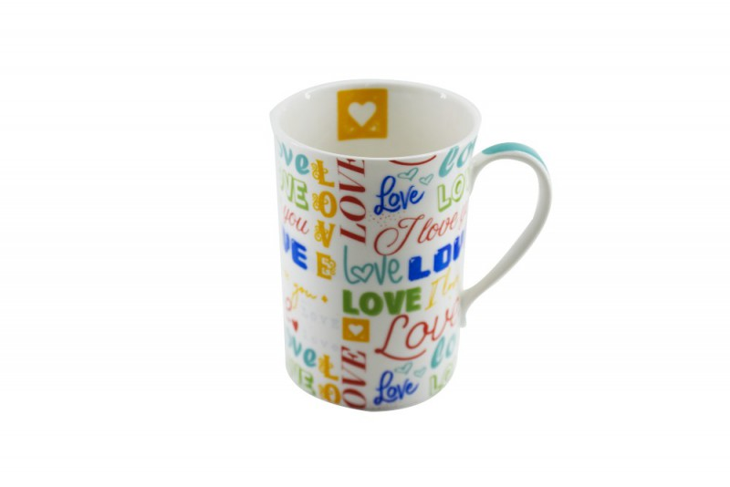 CANECA BONE CHINA ERANE - LOVE 320 ML