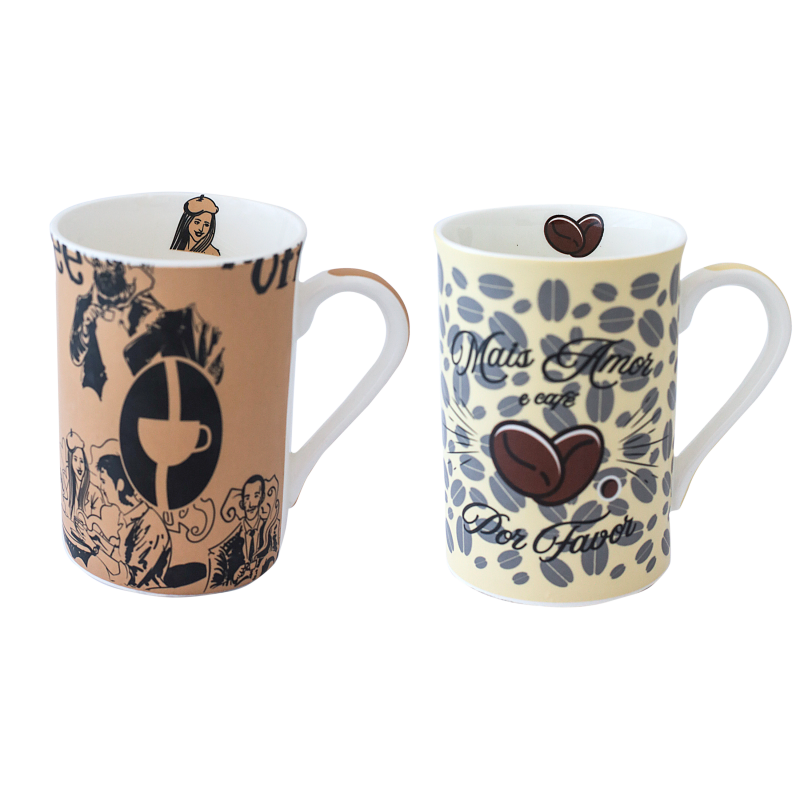 CANECA BONE CHINA ERANE - CAFE (2 MIX) 320 ML