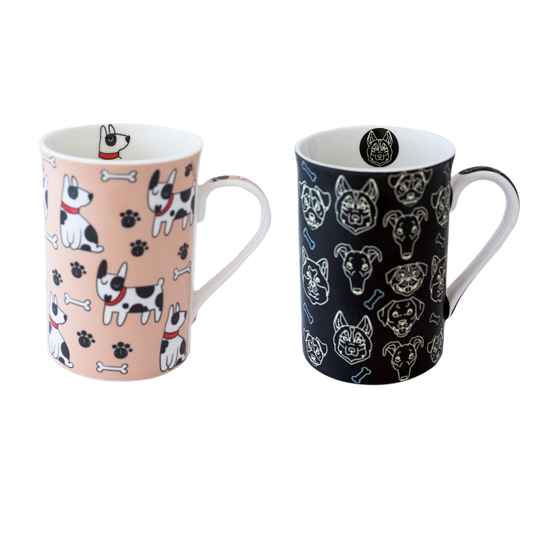 CANECA BONE CHINA ERANE - CACHORROS (2 MIX) 320ML