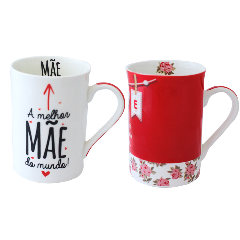 CANECA BONE CHINA ERANE - MAES AMOR (2 MIX) 320 ML