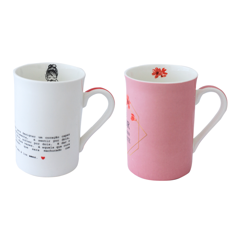 CANECA BONE CHINA ERANE - MAES (2 MIX) 320 ML
