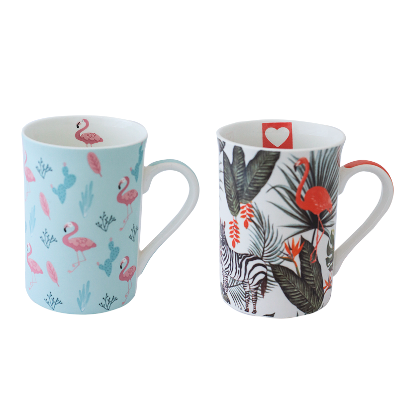 CANECA BONE CHINA ERANE - ANIMAL (2 MIX) 320 ML