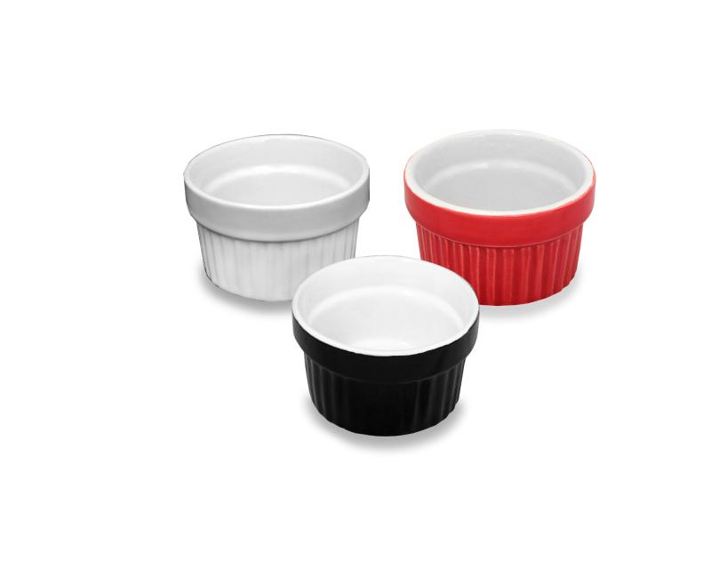 Ramequim de Ceramica 100 ML - 3 MIX Cores